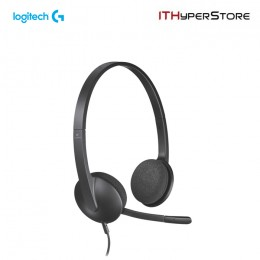 Logitech USB Headset With Mic - H340 - Black