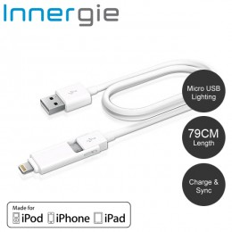 Innergie MagiCable Duo with Lightning Connector 2-in-1 USB Charging Cable