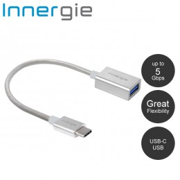 Innergie MagiCable USB-C to USB Charge and Sync - Silver