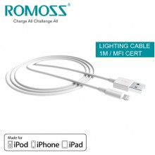 Romoss Data Sync and Charge Lighting Cable (MFI Certified) - 1M