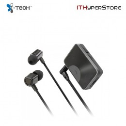 ITech MusicClip 8110 Bluetooth Wireless Stereo Headset - Dark Silver