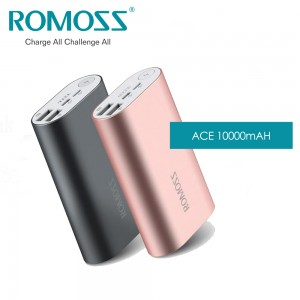 ROMOSS Powerbank Ace 10000mAh - Grey / Rose Gold