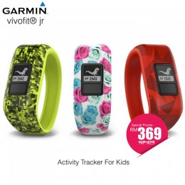 Garmin Vivofit JR Activity Tracker Watch For kids - Broke Lava