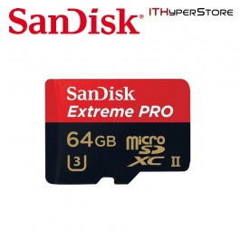 SanDisk Extreme PRO 64GB UHS-I/U3 Micro SDHC 95 MB/S With 4K Ultra HD - SDSDQXP-064G-G46A