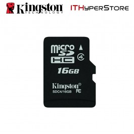 Kingston Micro SDHC 16GB Class 4 Memory Card With Adapter (SDC4/16GB)