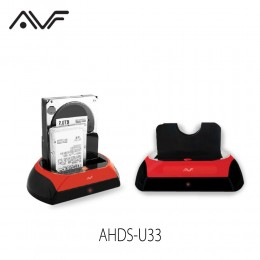 AVF AHDS-U33 Hard Disk Docking Dual Sata USB3.0/2.0 for 2.5´/3.5´ HDD